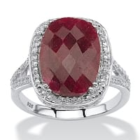 Sterling Silver Genuine Red Ruby Ring