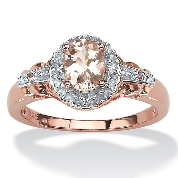 97388e55e Shop Rose Gold-plated Sterling Silver Morganite and Topaz Ring - On ...