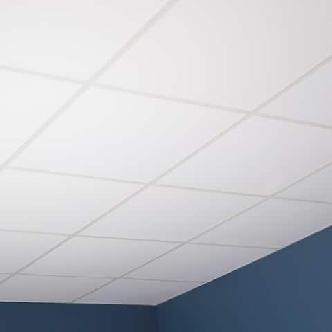 Genesis Smooth Pro White Lay-in Ceiling Tile