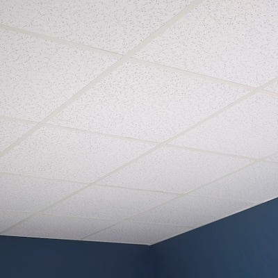 Genesis Printed Pro White 2 x 2 ft. Lay-in Ceiling Tile (Pack of 12)