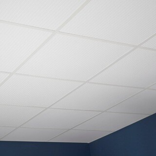 Genesis Classic Pro White 2 x 2 ft. Lay-in Ceiling Tile (Pack of 12)