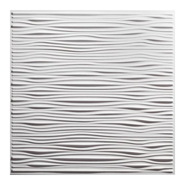 Shop Genesis Drifts White 2 X 2 Ft Lay In Ceiling Tile