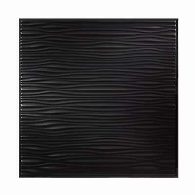 Genesis Drifts Black 2x2 ft Lay-in Ceiling Tiles