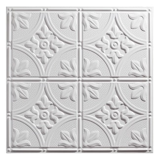 Genesis Antique White 2 x 2 ft. Lay-in Ceiling Tile (Pack of 12)