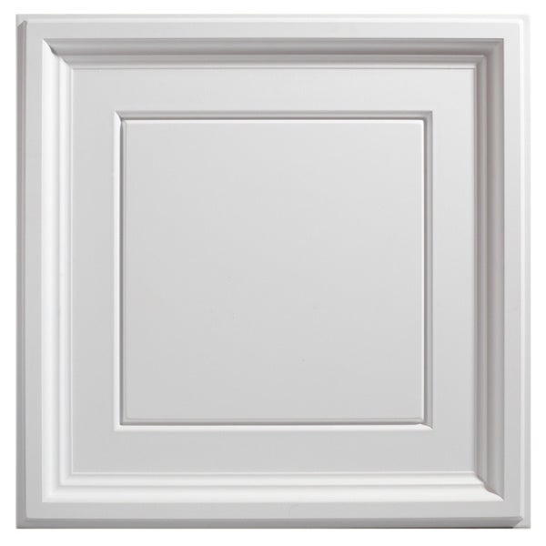 Genesis Icon Coffer White 2 x 2 ft. Lay-in Ceiling Tile (Pack of 12)