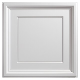 Genesis Icon Coffer White 2 x 2 ft. Lay-in Ceiling Tile (Pack of 12) (Option: SAMPLE - 12in x 12in)