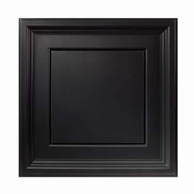Genesis Icon Coffer Black 2 x 2 ft. Lay-in Ceiling Tiles