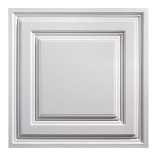 Icon Relief White 2 x 2 ft. Lay-in Ceiling Tile (Pack of 12)