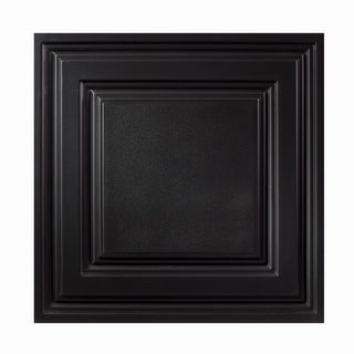 Icon Relief Black 2 x 2 ft. Lay-in Ceiling Tile (Pack of 12)