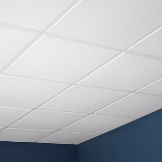 Genesis Stucco Pro Revealed Edge White 2 x 2 ft. Lay-in Ceiling Tile (Pack of 12)