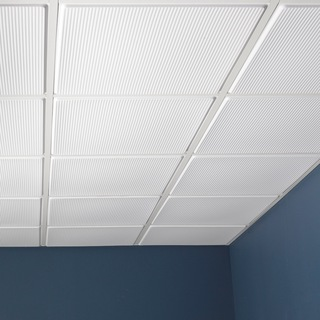 Genesis Contour Pro White Revealed Edge 2 x 2 ft. Lay-in Ceiling Tile (Pack of 12)