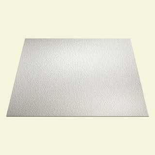 Genesis Stucco Pro White 2 x 2 ft. Lay-in Ceiling Tile (Pack of 12)
