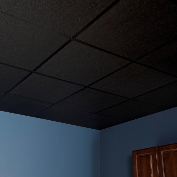 genesis stucco pro black 2 x 2 ft lay in ceiling tile pack - 2 X 2 Ceiling Tiles