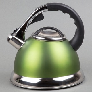 Creative Home Camille 3.0-quart Whistling Stainless Steel Opaque Chartreuse Tea Kettle