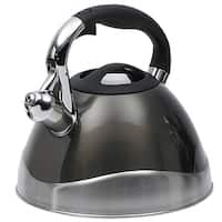 Creative Home Crescendo 3.1-quart Whistling Stainless Steel Tea Kettle Metallic Smoke