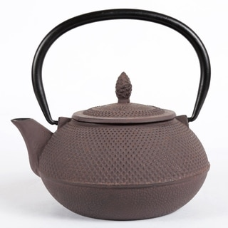 Creative Home Kyusu 30-ounce Cast Iron Brown Tea Pot