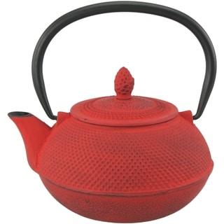 Creative Home Kyusu 30-ounce Cast Iron Red Tea Pot