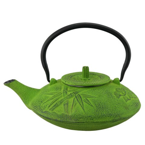 Creative Home Kyusu Green Cast Iron 38 oz. Tea Pot