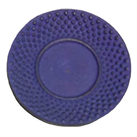 """Creative Home Blue Cast Iron 3.75"""" Round Trivet, Coaster"""