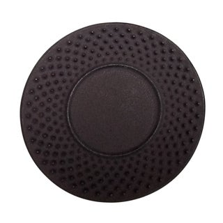 Creative Home 3.75-inch Diameter Cast Iron Round Brown Trivet