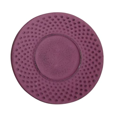 "Creative Home Purple Cast Iron 3.75"" Round Trivet, Coaster"