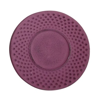 Creative Home 3.75-inch Diameter Cast Iron Round Purple Trivet