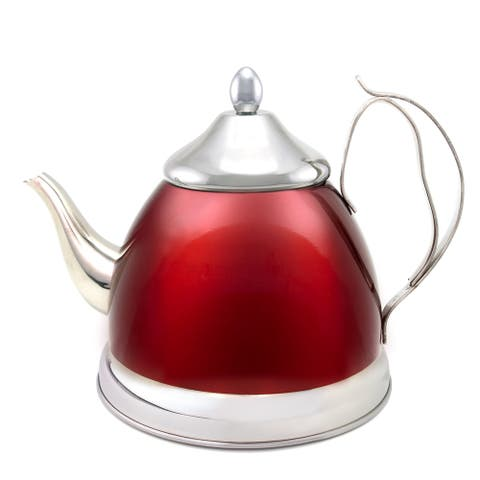 Creative Home Nobili-Tea 2.0-quart Tea Kettle/ Tea Pot with Stainless Steel Infuser Cranberry Basket