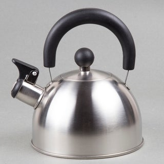 Creative Home Simplicity 1.5-quart Whistling Brushed Stainless Steel Tea Kettle