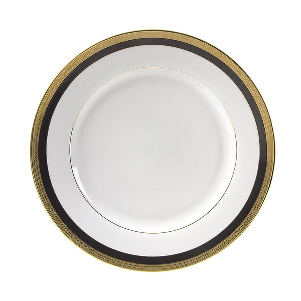 10 Strawberry Street Sahara Black Dinner Plate (Set of 6)  sc 1 st  Overstock.com : black dinner plates set - pezcame.com
