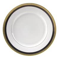 10 Strawberry Street Sahara Black Luncheon Plate (Set of 6)