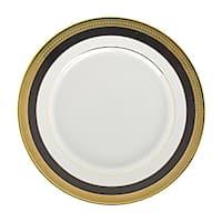 10 Strawberry Street Sahara Black Salad/ Dessert Plate (Set of 6)