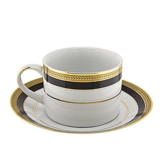 Sahara Black Can Cup/ Saucer (Set of 6)