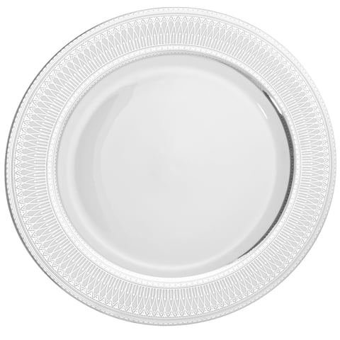 10 Strawberry Street Iriana Silver Charger Plate (Set of 6)