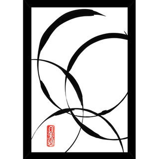 Zen Circles 1 Print (24-inch x 36-inch) with Traditional Black Frame