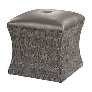 Luxe Grey Ottoman