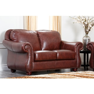 Abbyson Chandler Leather Loveseat