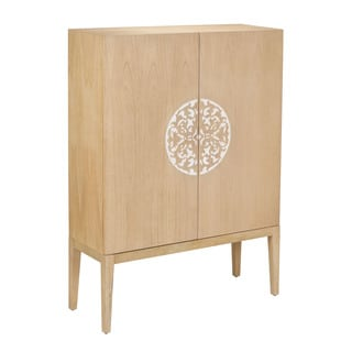 Cabinet with 2-Doors and Resin Accent
