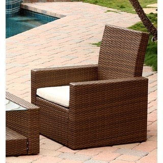 Abbyson Living Palermo Outdoor Brown Wicker Chair