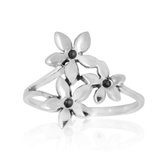 Exquisite Floral Jasmine Bouquet .925 Sterling Silver Ring (Thailand)