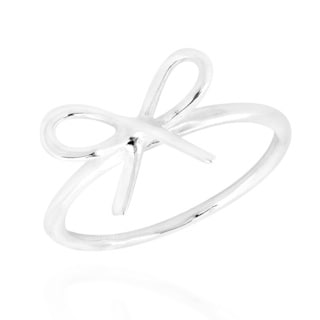 Simply Elegant Ribbon .925 Sterling Silver Ring (Thailand)