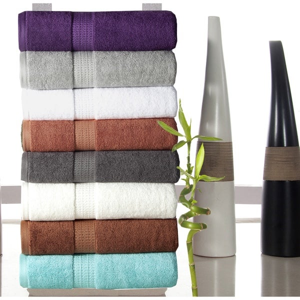 Luxurious Rayon from Bamboo and Soft Cotton 650 GSM 6-piece Towel Set