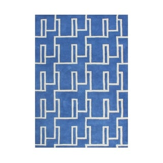 Alliyah Handmade Dazzling Blue New Zealand Blend Wool Rug (5' x 8')