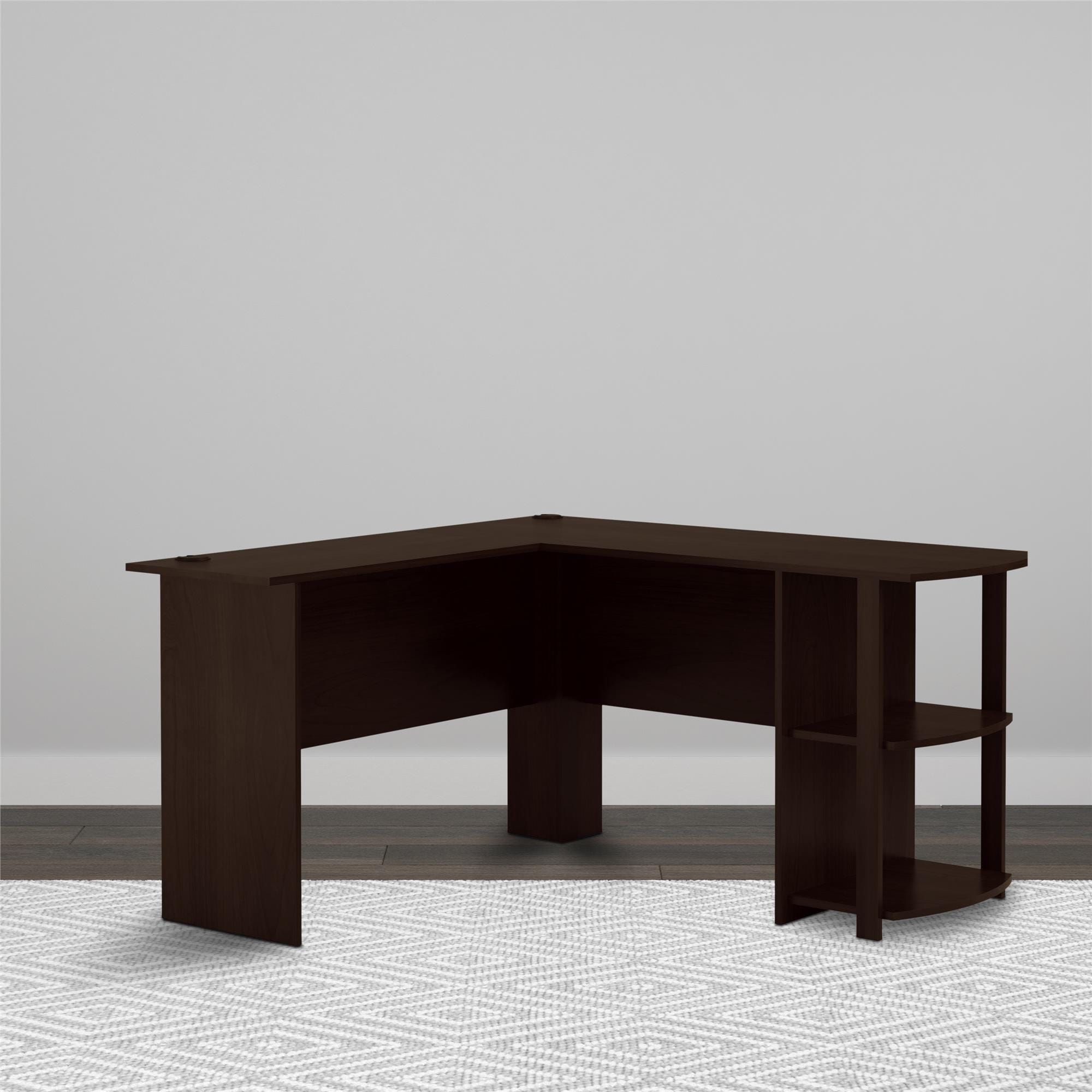 Shop Avenue Greene Abbott Lshaped Desk With Bookshelves Free - L shaped conference table