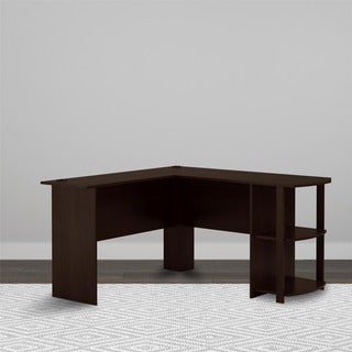 Avenue Greene Dakota L-shaped Desk with Bookshelves