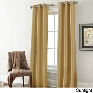 Amrapur Overseas Textured Blackouut Curtain Panel Pair - 37 x 84 (More options available)