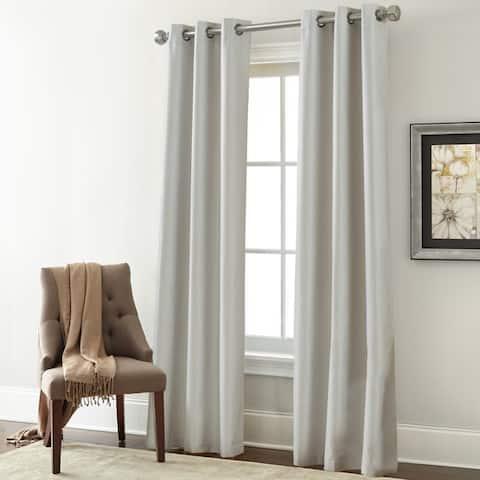Modern Threads Textured Blackouut Curtain Panel Pair - 37 x 84