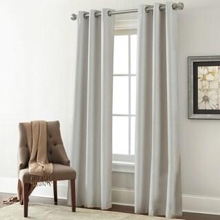 Charming Amrapur Overseas Textured Blackouut Curtain Panel Pair   37 X 84