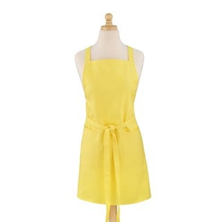 Amarillo Mango Solid Yellow Cotton Canvas Bib Apron