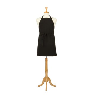 Two Pocket Black Cotton Canvas Chef's Apron