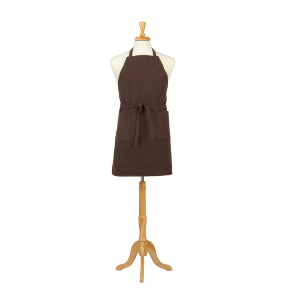Two Pocket Coffee Brown Cotton Canvas Chef's Apron